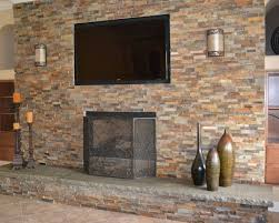 top fireplace with stone veneer cool design ideas
