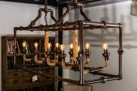 industrial style lighting. pipework style ceiling light industrial lighting e