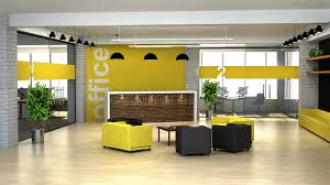 office reception interior. Download 3d Rendering An Interior Of The Office. Hall With Reception Stock Illustration - Office R