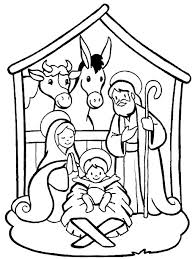 Nativity Coloring Pages Free Download Best Nativity Coloring Pages