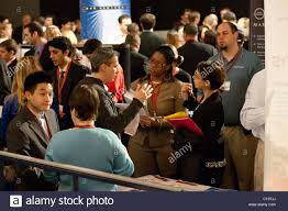 job seekers attend a career fair held at madison square garden in new york