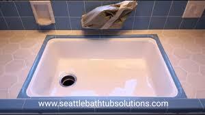 Undermount Kitchen Sink Refinish YouTube - Reglaze kitchen sink