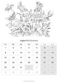 Calendario Luglio 2019 Da Stampare Svizzera