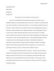 escape from the western diet essay mendoza ruiz sam mendoza  8 pages political correctness