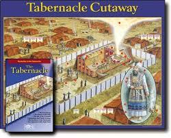 Tabernacle Cut Away Wall Chart Laminated Wall Chart