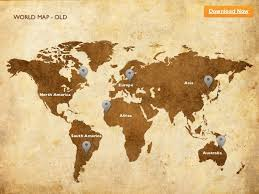 Keynote Template World Map Old