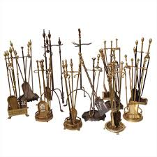 s solid brass fireplace accessories brass fireplace tools in the manner of fontana arte s glass