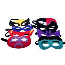 Mask Decorating Supplies 100pcslot baby kids children superhero half face masquerade eye 12