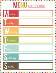 free menu planner 162 best recipe cards menu planning images free printables