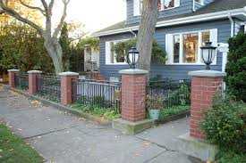Small Picture Front Yard Fence Design Brick Fence Front Yard