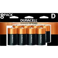 Duracell Battery Sizes Chart Duracell 1 5v Coppertop Alkaline D Batteries 8 Pack