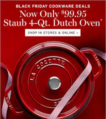 cookware black friday. Interesting Cookware Now Only 9995 Staub 4Qt Dutch Oven  SHOP IN STORES U0026 And Cookware Black Friday R