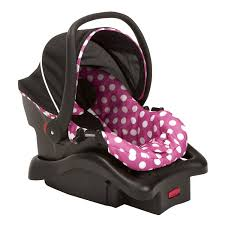 disney light n comfy luxe infant car seat minnie dot