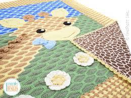 Crochet Giraffe Pattern Enchanting Rusty The Giraffe Blanket PDF Crochet Pattern IraRott Inc