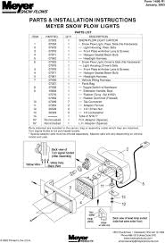 Meyer Snow Plow Light Switch Parts Installation Instructions Meyer Snow Plow Lights