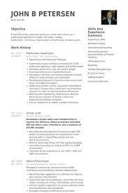 Gallery Of Production Supervisor Resume Samples Visualcv Resume