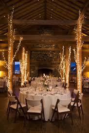 elegant decorations wedding table lights. Lodge Wedding, White Lights, Tree Décor, Rustic Elegance, Indoor Reception // Elegant Decorations Wedding Table Lights