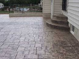 Models Stained Stamped Concrete Patio In Walkersville Maryland Picture Of On Inspiration Decorating