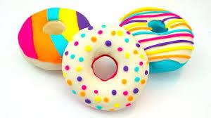 Пластилин плей-до учимся лепить пончики - YouTube