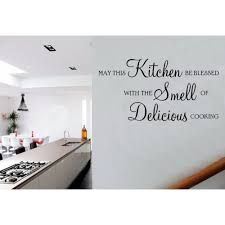 Small Picture May This Kitchen Be Blessed Delicious Cooking Quote Vinyl Wall Art