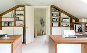 Home office cabin Inside This Loft Conversion Features Home Office Set Up With Built In Shelving From Cabin Ideas Sellmytees Decoration This Loft Conversion Features Home Office Set Up With