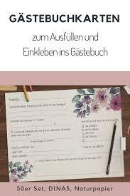 Gästebuch Hochzeit Mit Fragen Zum Ausfüllen Hochzeitsideen
