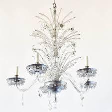 italian crystal chandelier w beaded stalks