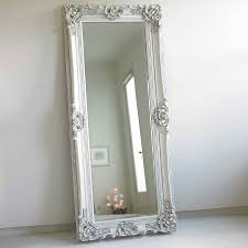 Shabby Chic Bedroom Mirror Ornate Wooden Mirror In Four Colours Shabby Chic Bedrooms