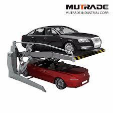 Car Parking Lift Design Hot Item Hydraulic Garage 2 Post Double Deck Car Parking Lift Machine