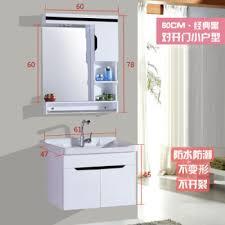 modern simple bathroom cabinet pvc bathroom cabinet bination wash basin sink sink washbasin lavatory bathroom hanging cabinet 6906 clic black 60cm