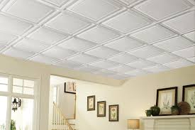 Exellent Basement Drop Ceiling Tiles In Decor