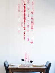 Room Decorating With Paper Cheerful Diy Dining Room Decoration Valentines Day Celebration