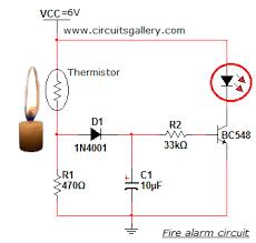 simple fire alarm thermistor circuit diagram electronics circuits fire alarm using thermistor ppt at System Of A Fire Alarm Circuit Diagram