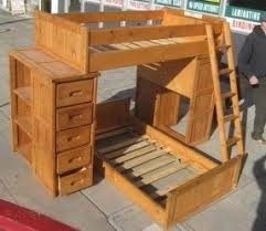 wood bunk bed with desk. Bunk Beds With Draws Wood Bed Desk D