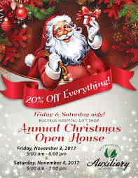 christmas open house flyer christmas open house at bucyrus hospital gift shop bucyrus area