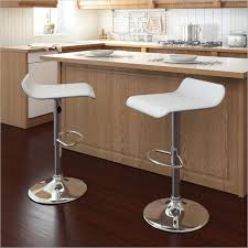 stylish modern adjustable white leather bar stools with regard to counter height design 17