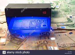 Fake Money Detector Light Money Fake Testing Euro Banknotes Authentication Check In