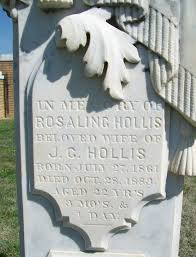 Rosalie Brewer Hollis (1861-1883) - Find A Grave Memorial