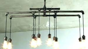 diy pipe lighting. Pipe Chandelier Galvanized Lighting Making Light Fixture Diy Copper  Icosahedron A