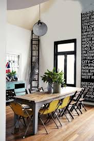 cool dining table and chairs. yellow accent pieces for dining area cool table and chairs