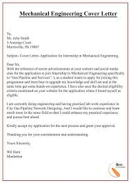 Mechanical Engineering Cover Letter Best Letter Template