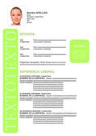 Formato De Curriculum Vitae En Español Formatos De Cv