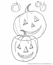 Small Picture Fall Coloring Pages Kids Fall Halloween Pumpkins Coloring Page