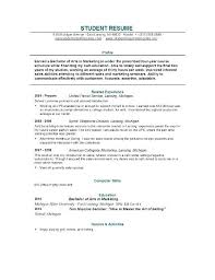 resume college student sample sample of resume college student krida info