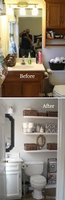 Bathroom shelves decor Silver Simply Sleek Diy Bathroom Shelf Ideas Homebnc 25 Best Diy Bathroom Shelf Ideas And Designs For 2019