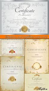 Дипломы и сертификаты в векторе diploma and certificates vector