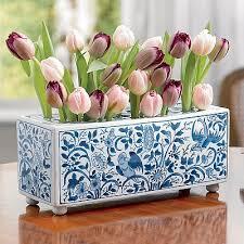 museum selection delft porcelain flower brick