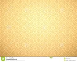 Gold Damask Background Gold Damask Pattern Background Stock Illustration