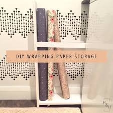 wrapping paper storage diy wrapping paper cart laundry room storage