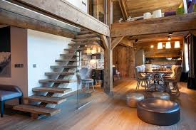 Apartment Designers Simple TwoLevel Apartment Transformed Into A Chalet Home Interior Design
